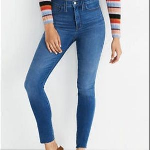 "Madewell Roadtripper 10"" Skinny Jeans Waterford"